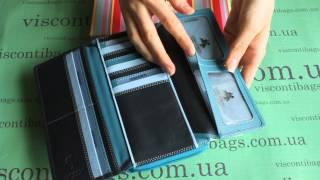 Женский кошелек-клатч Visconti RB78 - Seychelle (blue)(Большой многофункциональный кошелек-клатч из телячьей кожи. Купить по ссылке http://viscontibags.com.ua/women-purse-rainbow/visco..., 2015-05-01T17:51:44.000Z)