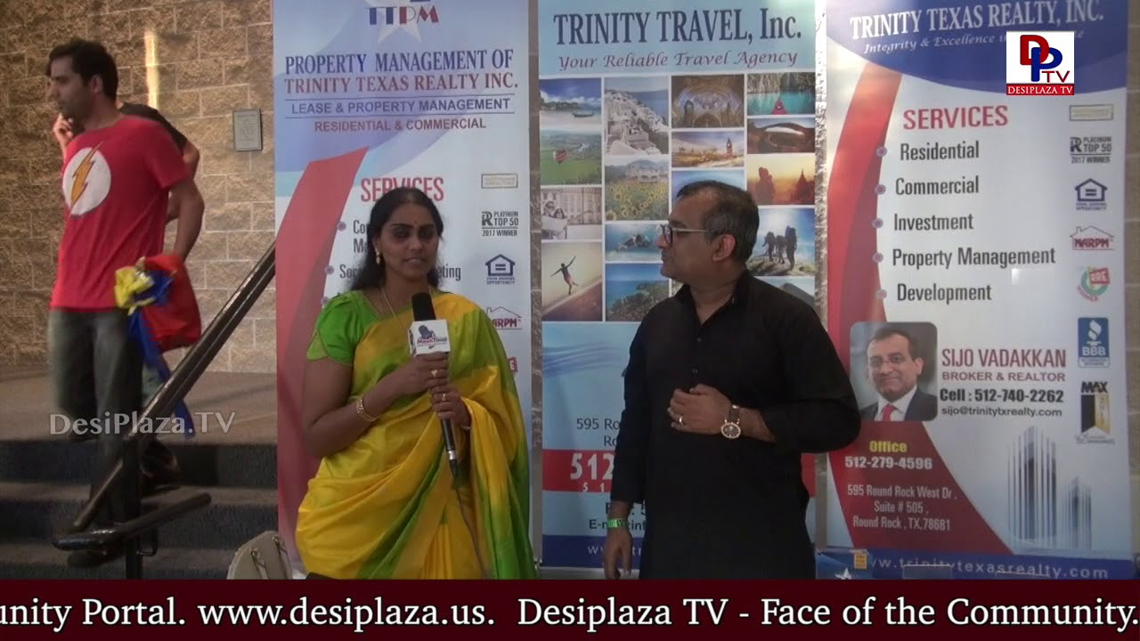 Sijo Vadakkan, Trinity Group Companies speaks to DesiplazaTV at TCA Austin Ugadi Celebrations - 2018