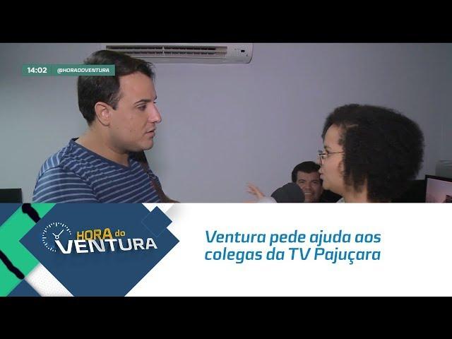 Ventura pede ajuda aos colegas da TV Pajuçara para decidir o que vai fazer as férias - Bloco 01
