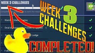 FORNITE - WEEK 3 CHALLENGES LOCATIONS/GUIDE! - SEASON 4 WEEK 3 BATTLE PASS!