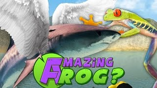 Amazing Frog PC Gameplay - FLYING SHARKS?! - Part 4