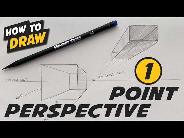 One (1) Point Perspective - Simple Step By Step