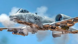 A-10 Ground Attack Aircraft In Action: Strafing Runs