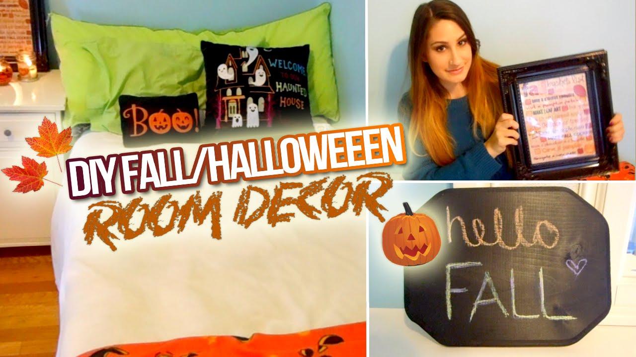 DIY Fall/Halloween Room Decor 2014! - YouTube