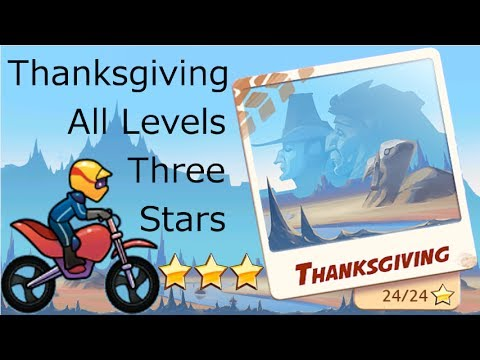 Bike Race Thanksgiving 3 Stars ★★★ Levels 1-8 Normal Bike Walkthrough