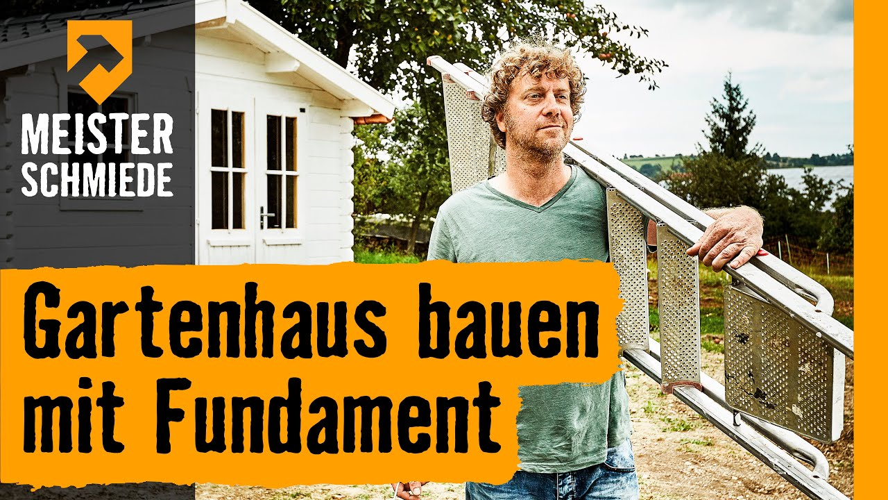 gartenhaus bauen mit fundament hornbach meisterschmiede youtube. Black Bedroom Furniture Sets. Home Design Ideas