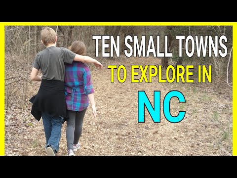 TEN AMAZING SMALL TOWNS TO VISIT IN NORTH CAROLINA.  The Camper Couple #RVlife