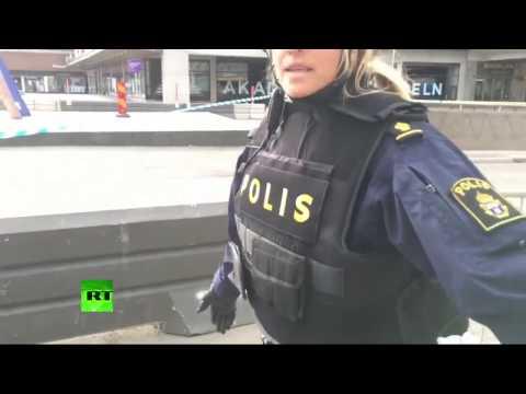 Des images de Stockholm où un camion est rentré dans la foule (Direct du 07.04)