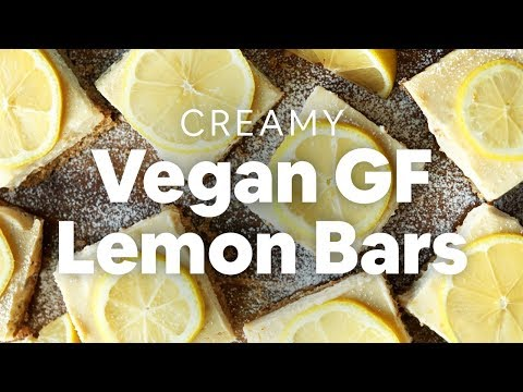 Creamy Vegan Lemon Bars