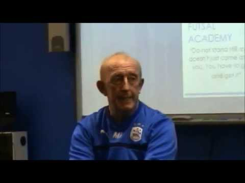 HTAFC Academy manager Mark Lillis visits the Education academy