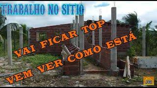 Curral de Alvenaria- pilares de cano pvc