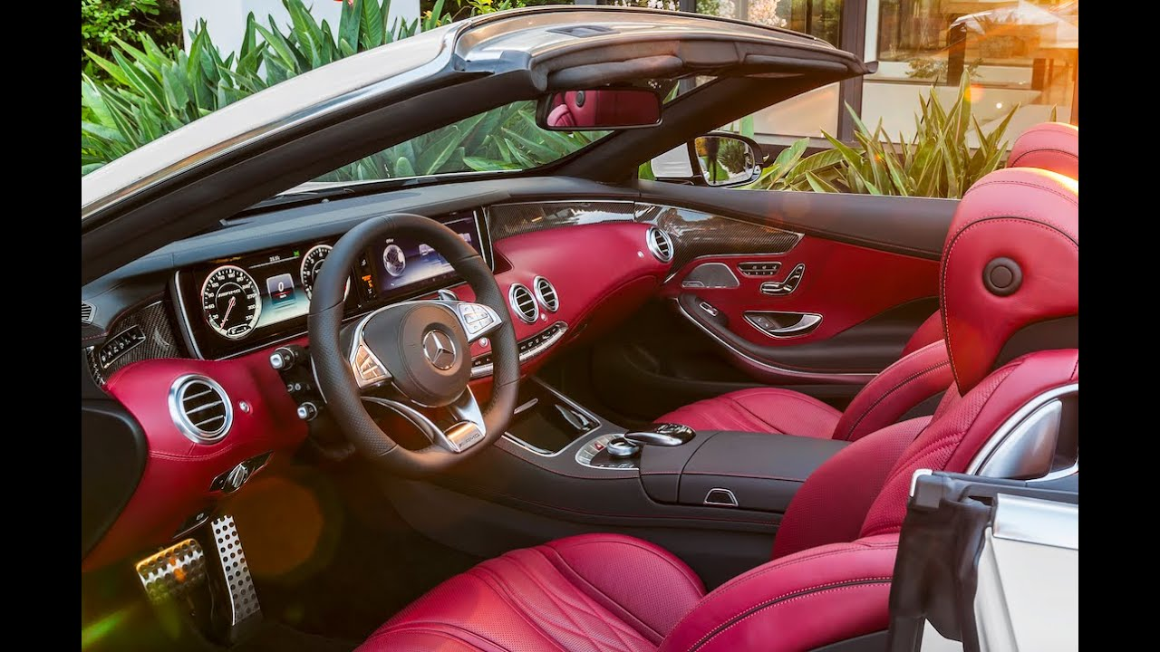 Mercedes benz convertible red interior for Mercedes benz c300 red interior