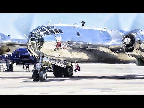 Restored WWII Era B-29 Bomber • The Plane That Nuked Japan