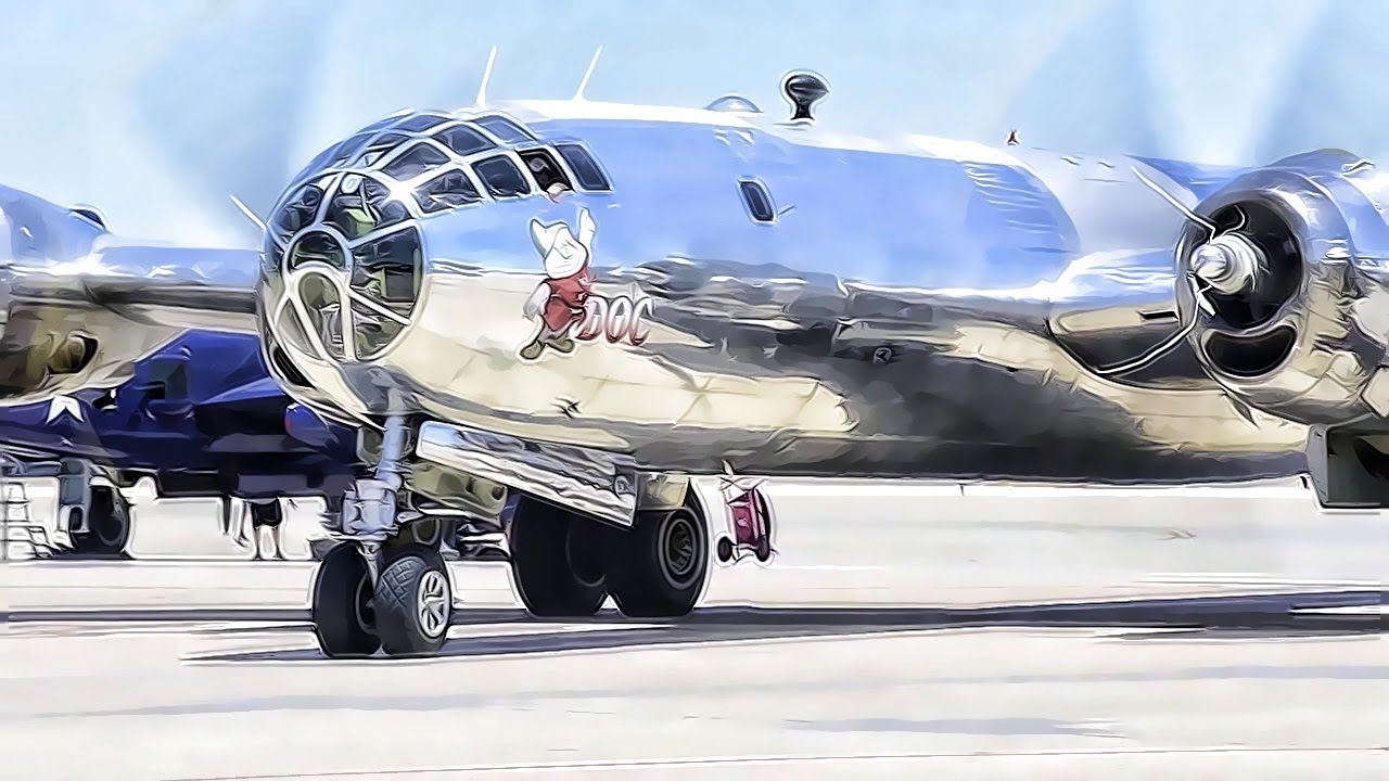 restored wwii era b29 bomber � the plane that nuked japan