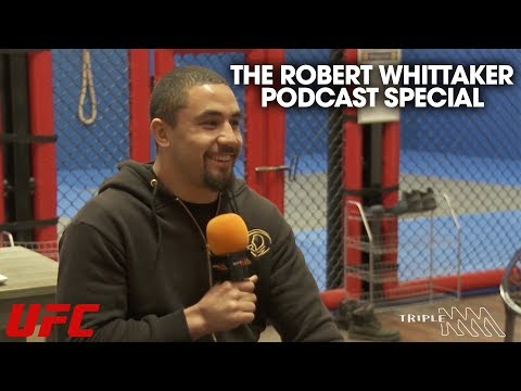 """Robert Whittaker on Adesanya: """"If Gastelum can put hands on him, I can put hands on him. Honestly I think I'm going to finish him somewhere in the second or third round. I'm definitely going to look for the finish."""""""