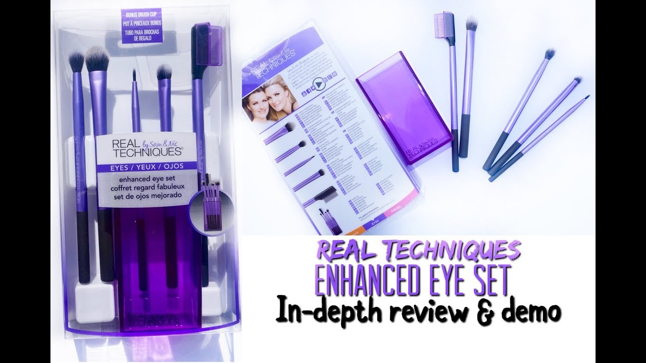 828e991db7f Real Techniques New Enhanced Eye Set In-deph Review + Demo! Makeup Brushes