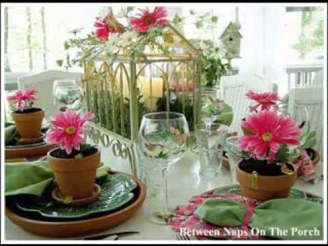 Garden theme party ideas - YouTube