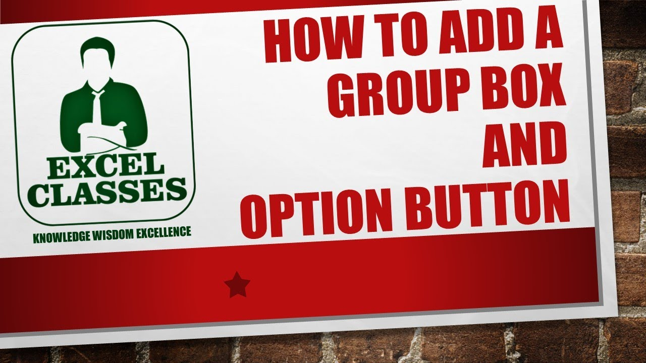 Excel Classes- Add Group Box And Options Button To Excel | Mortgage  Calculator