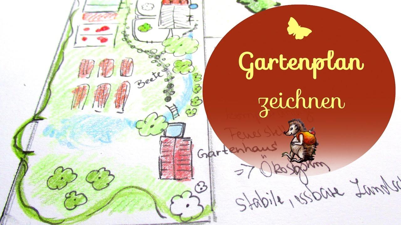Gartenplan zeichnen │ Gartenplan für die kommenden Jahre - YouTube