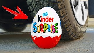EXPERIMENT: CAR VS BIG KINDER SURPRISE