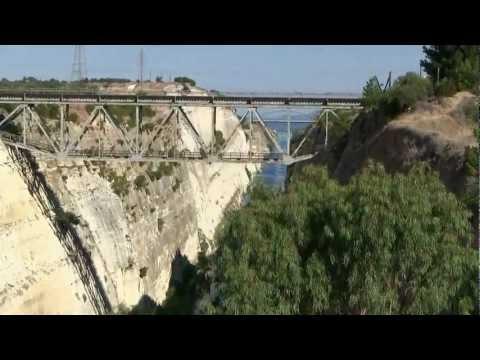 Starożytny Korynt, Kanał Koryncki,  Grecja lipiec 2012