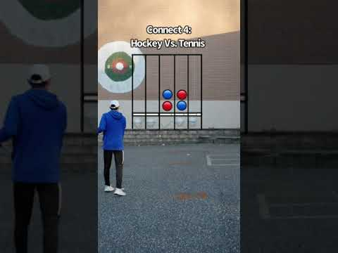 Hockey Vs. Tennis CONNECT 4 SPORTS CHALLENGE! #Shorts