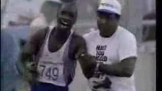 1992バルセロナ五輪・男子400m 記録よりも記憶に残るオリンピックの感動の名場面 レドモンド父子のゴール