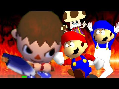 Thumbnail: SM64 bloopers: Can the Villager come out to play?