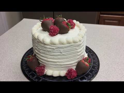 white-cake-with-chocolate-covered-strawberries