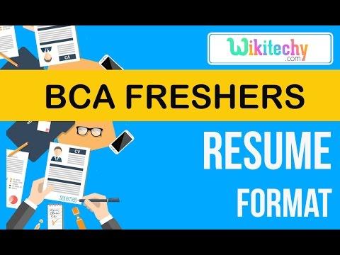 Resume Bca Freshers Resume Sample Resume Resume Templates