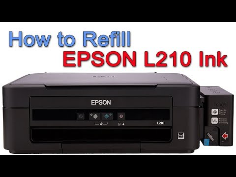 How To Refill Epson L210 Printer Ink