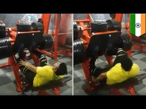 Horror weightlifting injury: Gym bro breaks his legs while doing leg press - TomoNews