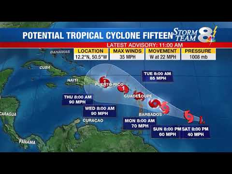 Hurricane Jose, Lee & Tropical cyclone 15 (Forecast)
