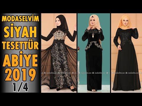 606d4ebbc3950 #Modaselvim #Siyah #Tesettür #Abiye #Elbise Modelleri 2019 - 1/4 | #Hijab  Evening #Dress | #black