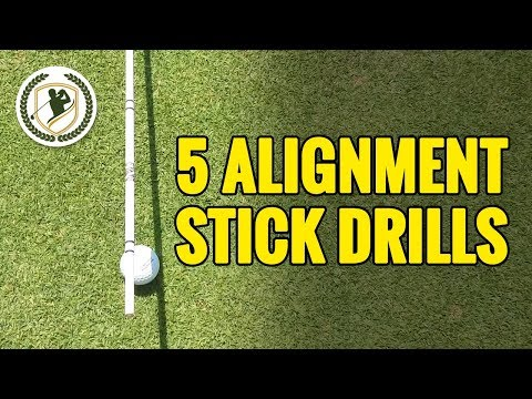 5 SIMPLE GOLF DRILLS WITH ALIGNMENT STICKS TO IMPROVE YOUR ACCURACY!