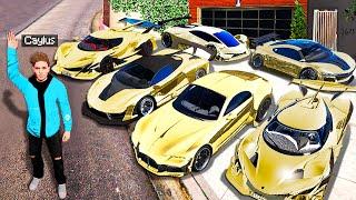 Collecting QUADRILLIONAIRE CARS In GTA 5! (Mods)
