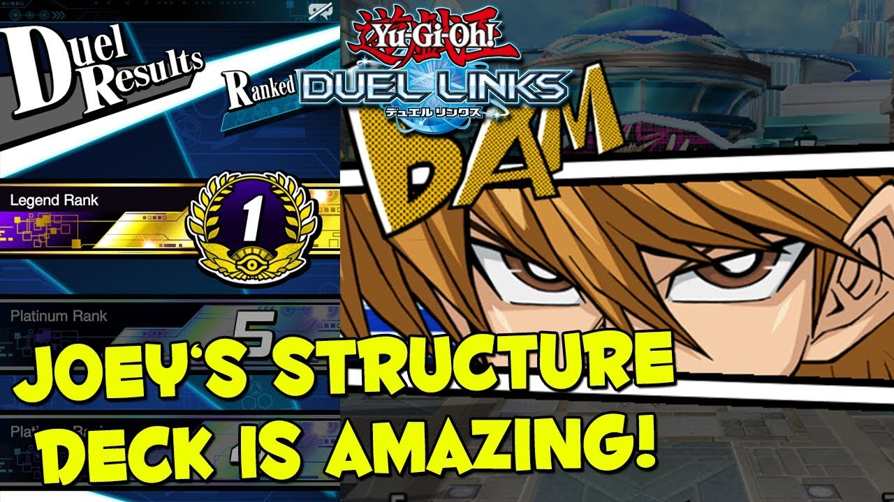LEGENDARY WARRIORS BEST STRUCTURE DECK? Yu-Gi-Oh! Duel Links Ranked PvP  (Legend Rank 1)