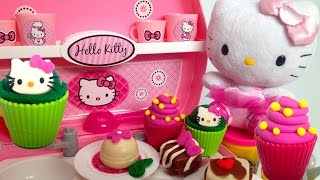 Play Doh Hello Kitty Mini Kitchen Playset ハローキティ Mini Cocina Juguetes Hello Kitty Pastry Shop