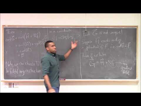 Math 392 Lecture 8 - Vector Potentials, Curl, Divergence, and their interpretations