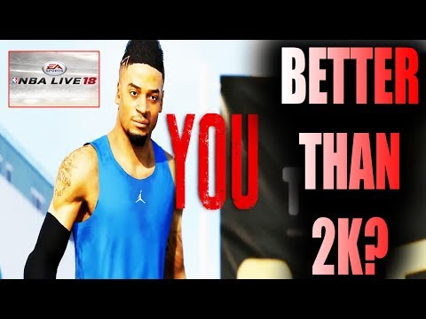 IS NBA LIVE 18 THE ONE CAREER MODE BETTER THAN NBA 2K18 MY CAREER ?