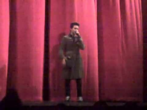 Bartholomew Cubbins introducing Hurricane at the screening