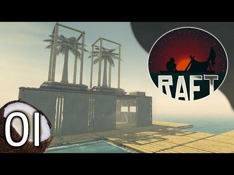 RAFT - (c)rafting time! - Part 1 Let's Play Raft Gameplay