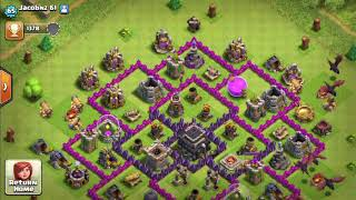 Clash Of Clans Weird Hacked Base?