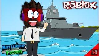 ROBLOX Indonesia #48 Battleship Tycoon   Base inside the warship