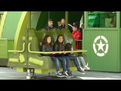 Toy Soldiers Parachute Drop (Queue & On-ride) - Disneyland Paris - 12 May 2012