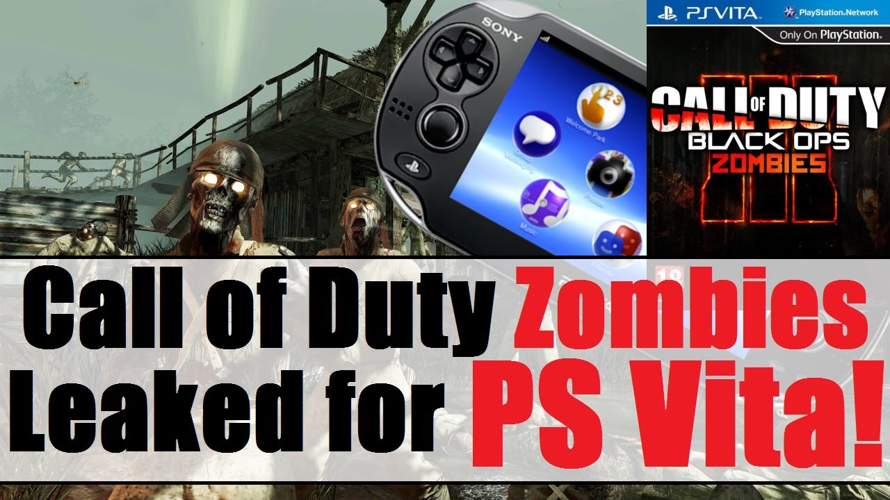 Playstation Vita Call Of Duty : Call of duty zombies leaked for the ps vita youtube