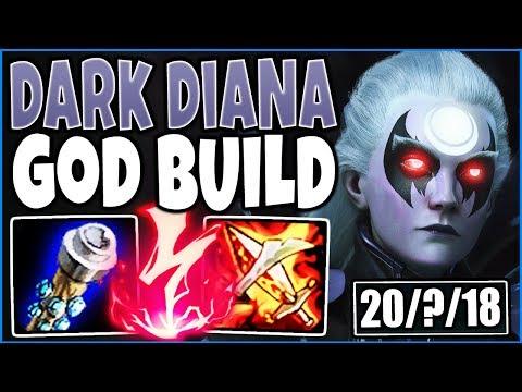 DARK DIANA GOD JUNGLE BUILD 🔥 750+AP 3000+HP Most DMG DEALT & TAKEN 🔥 Jungle Diana Season 9 Gameplay