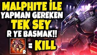 MALPHITE İLE YAPMAN GEREKEN TEK ŞEY ''R'' YE BASMAK !!! | R BAS WIN AL HEROSU !!! | Apophis