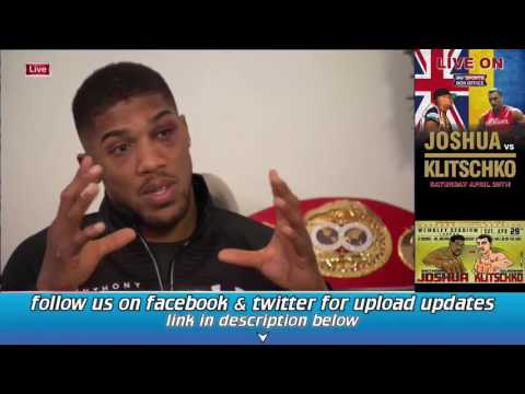 Anthony Joshua next day interview after beating Klitschko win by K.O.