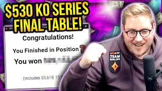 ANOTHER HUGE 5 FIGURE SCORE!? $530 KO SERIES FINAL TABLE! | PokerStaples Stream Highlights